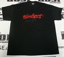 Frank Dux Signed Bloodsport Black T-Shirt PSA/DNA COA XL Extra Large Kumite Auto