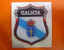 Pegatina Emblema 3D Relieve Bandera Galicia - Todas las Banderas del MUNDO