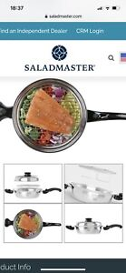 "Saladmaster 10"" Deep Gourmet Skillet Surgical Steel with Rack Ltd Edition NEW"
