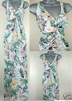 Maxi Dress ex Dorothy Perkins Floral Tropical Print Summer Beach Kaftan Size 8