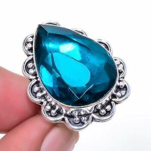 London Blue Topaz Gemstone 925 Sterling Silver Jewelry Ring s.5 F2516