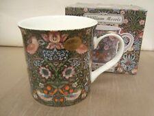 William Morris Mug Green Design Strawberry Thief Palace Shape Discontinued