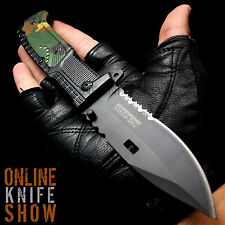 TAC FORCE TACTICAL MILITARY POCKET KNIFE Spring Assisted Army Camo Folding Blade
