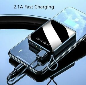 Mini Power Bank External Battery Digital Display 2USB Portable Dual LED 20000mAh
