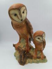"Vintage GOEBEL BARN OWLS Figure Statue 35 113 34  Large 14"" Tall  West Germany"