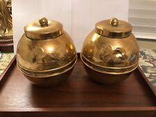 British Empire Exhibition Wembley 1924 Lipton Brass Tea Caddy - Vintage Antique