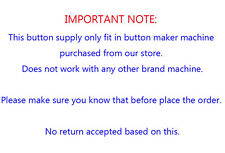 """DIY  1-1/2"""" 37mm 100Sets Pin Badge Button Parts Supplies for Pro Button Maker"""