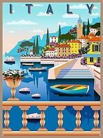 Amalfi Coast Italy Retro Travel Home Wall Decor Collectible Poster Print