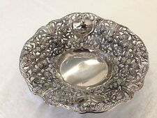 Gorgeous Vintage Large Highly Ornate Silverplate Pierced Fruit Compote Deep Bowl