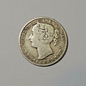 CANADA : NEWFOUNDLAND SILVER 20 CENTS 1872. 0.925 SILVER.  KM  4