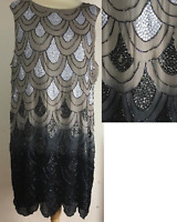 SIMPLY BE NIGHTINGALES FLAPPER GATSBY 1920'S PARTY CHARLSTON DRESS PLUS SIZE 26