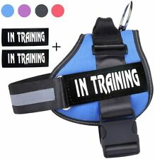 Nylon Dog Harness W/ Removable Patches S M L XL XXL No Pulling for Lab Yorkie