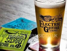 Ernie Ball Electric Guitar Strings Logo Pint Glass (beer not included)
