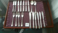 19 PIECES MANNIE BROS.. SHEFFIELD ENGLAND SILVER PLATE SPOONS FORKS KNIVES