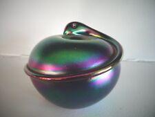 1981 TERRY CRIDER Glass SNAKE Serpent Paperweight AURENE Iridescent Favrile