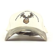 California Deer Association Support Deer Habitat Org Baseball Cap Hat Camo Adj