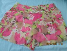Ann Taylor Loft lined floral shorts size 12 NWOT