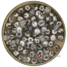 Czech Glass RounDuos CRYSTAL VITRAIL LIGHT 5mm - 2 Hole Round Beads - 40 pcs