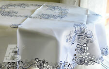 """Large Round Table cloth,  Embroidered Tea Pots, Diameter 150cm (60"""") FFDWY21"""