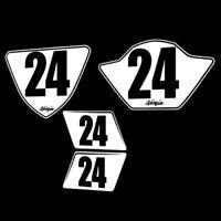 Ninja 250R Numberplates 2012-2018 kawasaki ninja 250 300 trackday racing plates