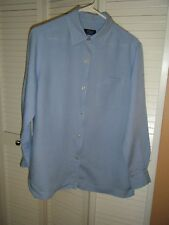 WOMENS CRAZY HORSE MEDIUM LIGHT BLUE BLOUSE MED