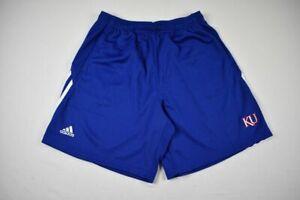 Kansas Jayhawks adidas Shorts Men's Blue Clima-lite NEW M