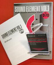 Roland PCM Sound  Element CARD for D70 D 70 MV30 SN-SPLA-01 Organ VOX Wave scan