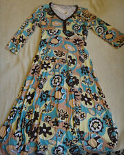 LEAF DESIGNS NEW WITH TAGS ABSTRACT PRINT DRESS  LADIES SIZE 8