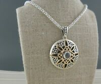 Sterling Silver & 10K Celtic Trinity Knot Compass Pendant KEITH JACK Jewelry