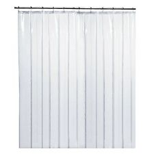 LiBa Clear Shower Curtain Liner, Mildew Resistant, Anti-Bacterial, PEVA, 72x72