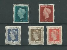 Nederland 485-489  Wilhelmina MNH/postfris   CV 100  €