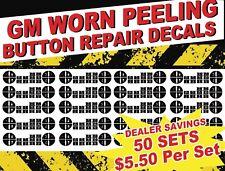 50 Piece GM CHEVROLET Sierra Silverado Tahoe AC CLIMATE Button Repair Decals