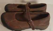 Keen Presidio Mary Jane Womens Sz 7 M Brown Leather Slip On Buckle 1011433