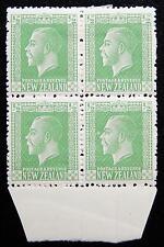 New Zealand Kat. 136a MNH/MH **/* Block of Four KGV 1915 Kat. 6 Euro