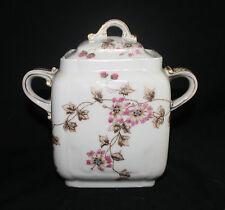 Charles Field Haviland Schleiger 373 Antique CFH/GDM Sugar Bowl with Lid