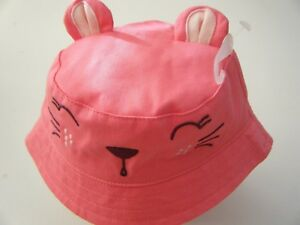 NWT Gymboree Toddler Girl's Hat Size 0-12 months - Cat Face w/Ears