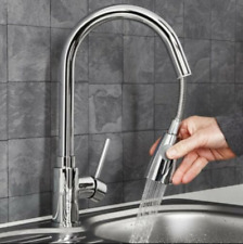 Chrome Kitchen Faucet Swivel Spout Single Handle Sink Pull Out Spray Mixer Tap