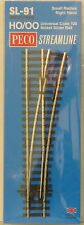 Peco HO Scale Code 100 Small Radius Right Hand Insulfrog Turnout NEW SL-91