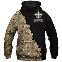 New Orleans Saints Hoodie Hooded Pullover COAT S-5XL Football Team Fans Gift