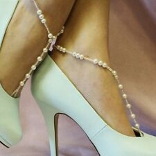 Fashion Barefoot Sandal Bridal Beach Pearl Foot Jewelry Anklet Chain Bracelet