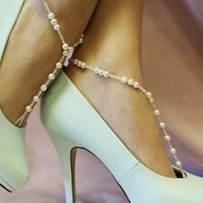 Foot Jewelry Pearl Anklet Chain Barefoot Sandal Bridal Beach Ankle Bracelet