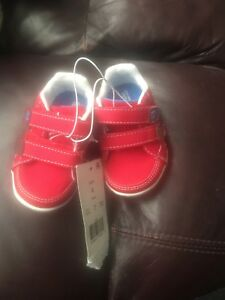 Surprize by Stride Rite Tanner sz 4 red adjustable strap toddler shoes NWT