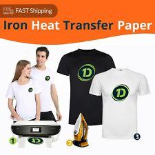 5/10/20/50 Iron Heat Transfer Paper Cotton T-Shirt Dark/Light Fabrics Inkjet