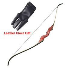 """60"""" Takedown Recurve Bow Red Handle Riser Archery 30-60lbs Shooting Hunting"""