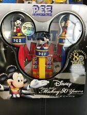 Disney PEZ Mickey Mouse 80 Years Collection with Retro Mickey Poster-Sealed