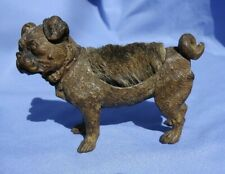 "BRONZE PUG VICTORIAN PEN WIPE AUSTRIA 5"" DOG"
