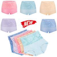 Women Floral Underwear High Waist Underpants Soft Briefs Cotton Knickers Panties