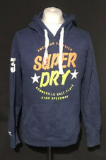 Superdry Men's Casual Blue 'Lin Lab' Hoodie Jumper Large Cotton Blend