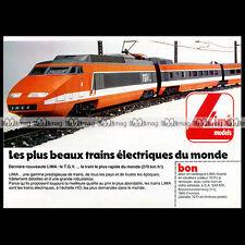 LIMA Train Electrique TGV SNCF HO 1986 : Pub Publicité Original Advert Ad #B567