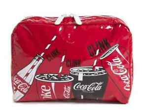 Le Sportsac Coca-Cola Rectangular Cosmetic Pouch 7121-G678